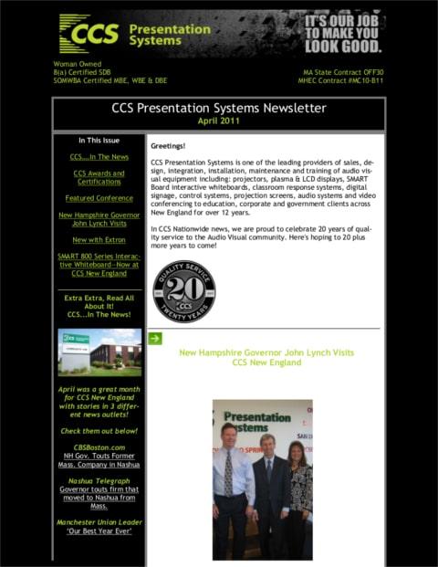 April 2011 Newsletter1