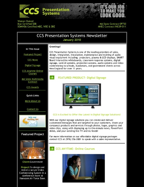 Jan 2010 Newsletter