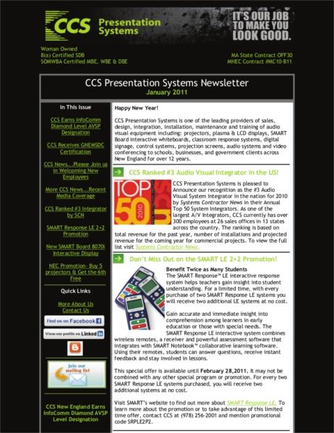 January-2011-Newsletter