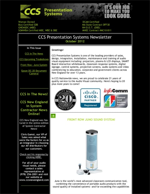 October-2012-Newsletter